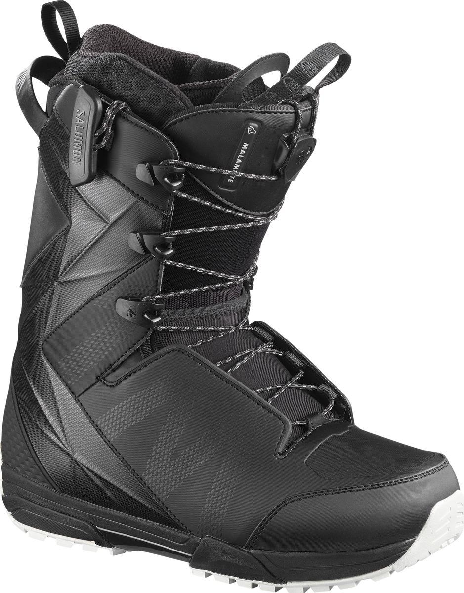 Ботинки для сноуборда мужские Salomon Malamute, цвет: черный. Размер 46