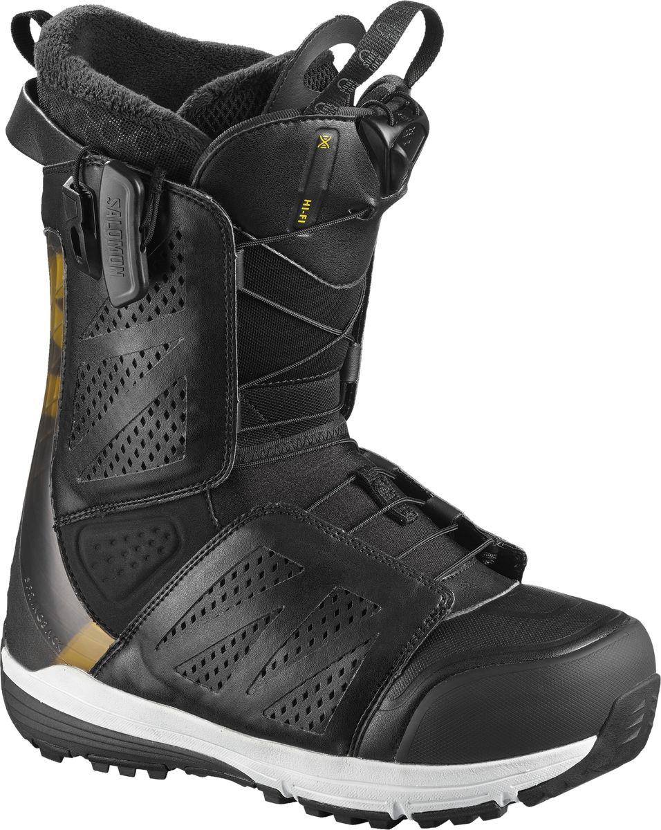 Ботинки для сноуборда мужские Salomon Hi Fi, цвет: черный. Размер 45