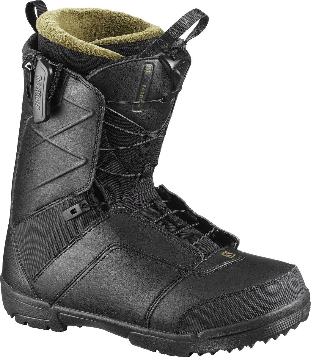 Ботинки для сноуборда мужские Salomon Faction, цвет: черный. Размер 47