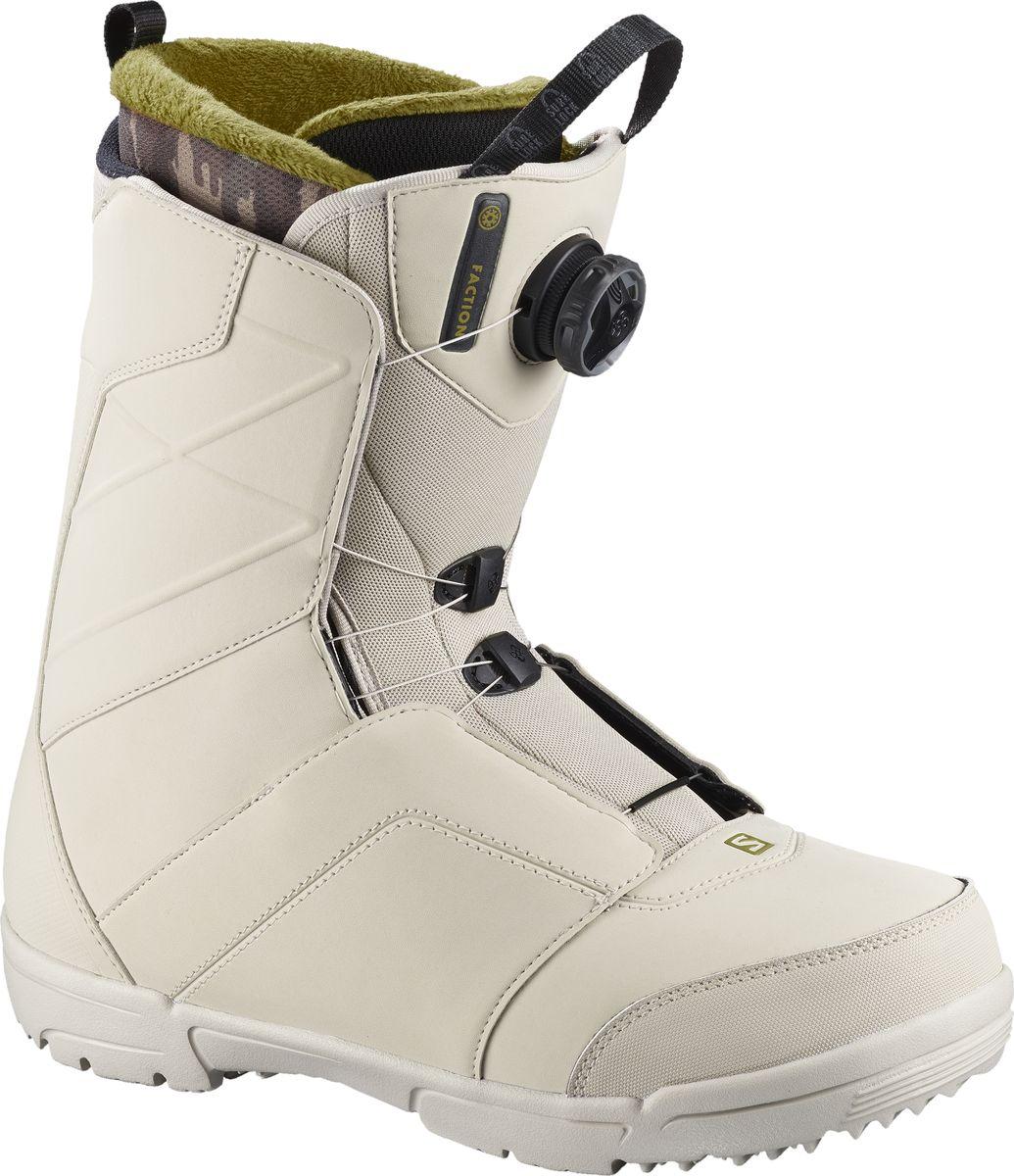 Ботинки для сноуборда мужские Salomon Faction Boa, цвет: светло-бежевый. Размер 46