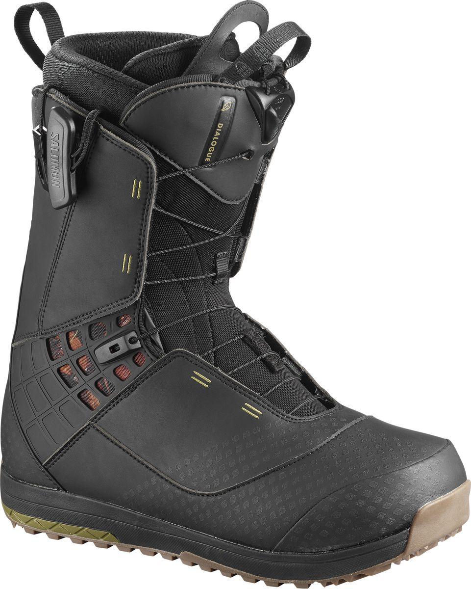 Ботинки для сноуборда мужские Salomon Dialogue, цвет: черный. Размер 43