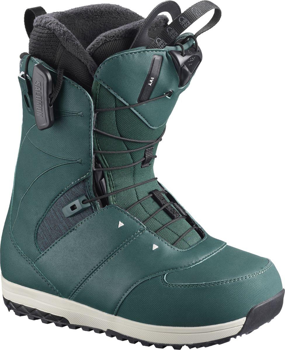 Ботинки для сноуборда женские Salomon Ivy, цвет: темно-бирюзовый. Размер 42