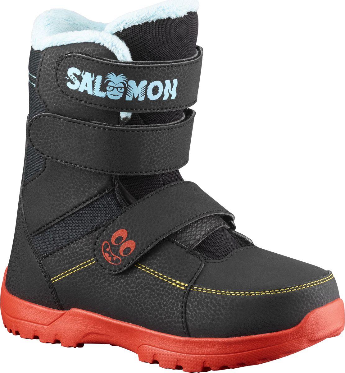 Ботинки для сноуборда Salomon Whipstar, цвет: черный. Размер 33 ботинки для сноуборда salomon faction rtl цвет черный желтый размер 29 5 45