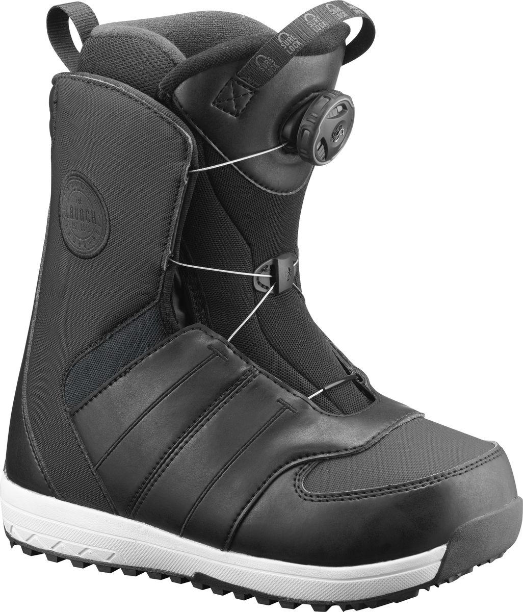 Ботинки для сноуборда Salomon Launch Boa Jr, цвет: черный. Размер 41 ботинки для сноуборда salomon faction rtl цвет черный желтый размер 29 5 45