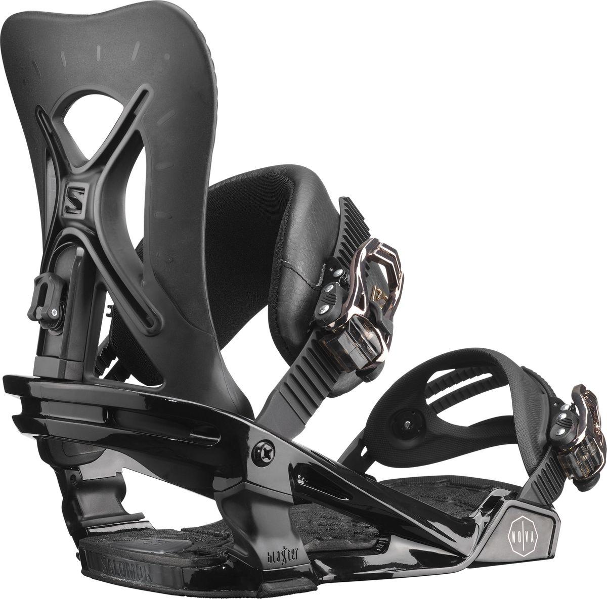 Крепления для сноуборда Salomon Nova, цвет: черный. Размер M (39,5-44)