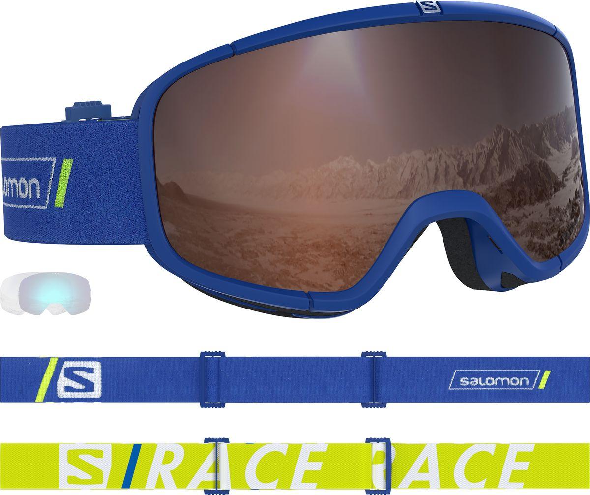 Маска горнолыжная Salomon Four Seven Race, цвет: синий цены онлайн