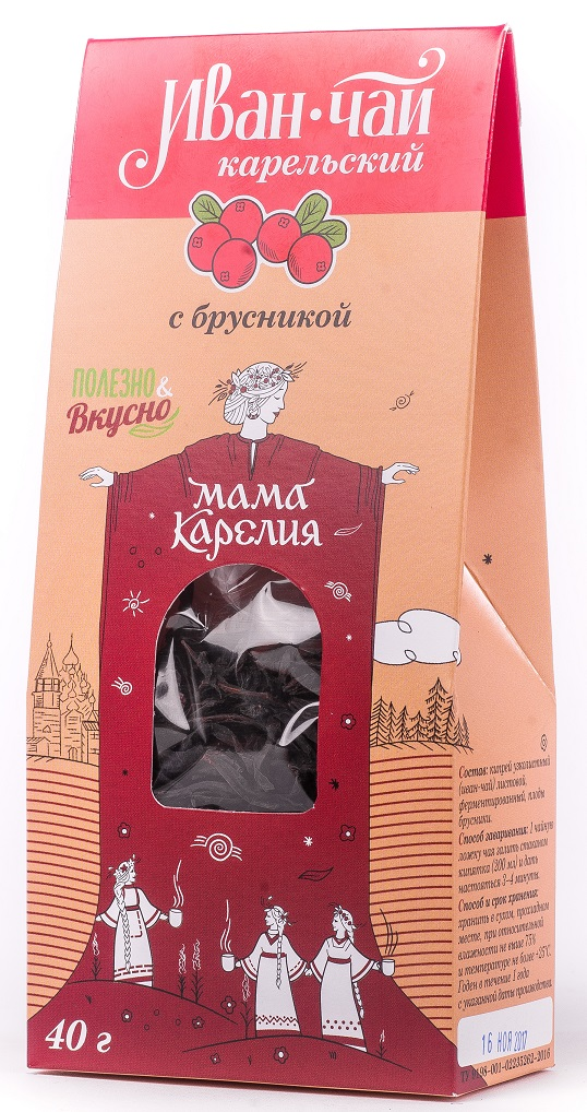 Чай листовой Мама Карелия Иван-чай Карельский, с мятой перечной, 50 г plum snow зеленая улитка зеленый листовой чай с дыней 100 г