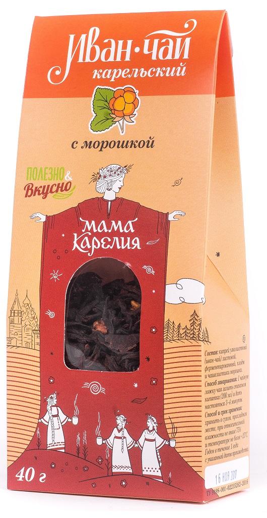 Чай листовой Мама Карелия Иван-чай Карельский, с сосновой почкой, 50 г иван чай с мелиссой 50 г
