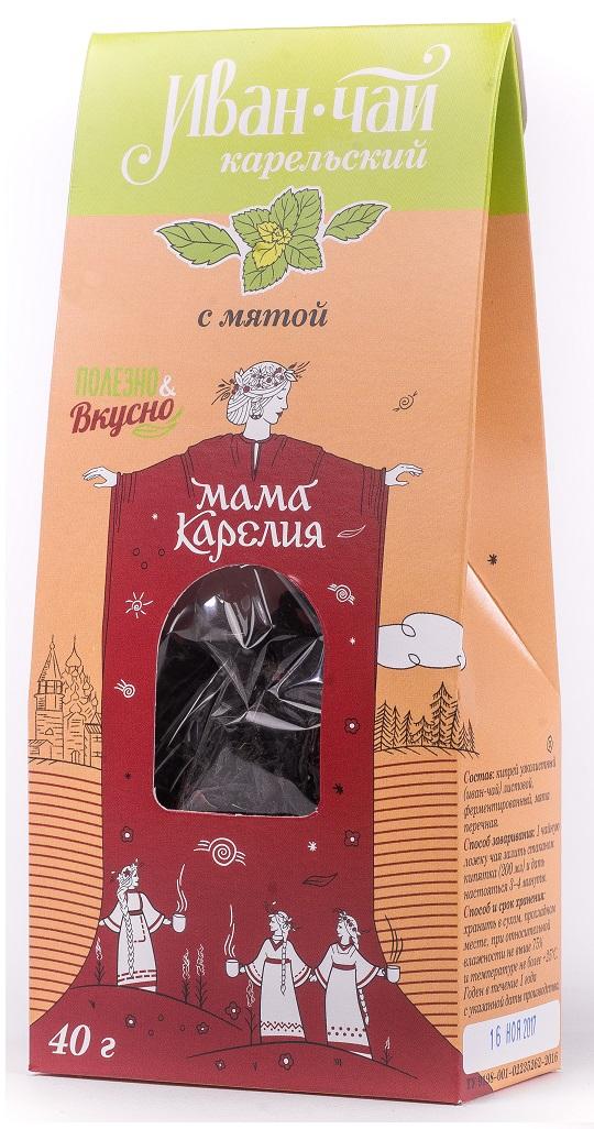 Чай листовой Мама Карелия Иван-чай Карельский, с брусникой, 50 г иван чай с мелиссой 50 г