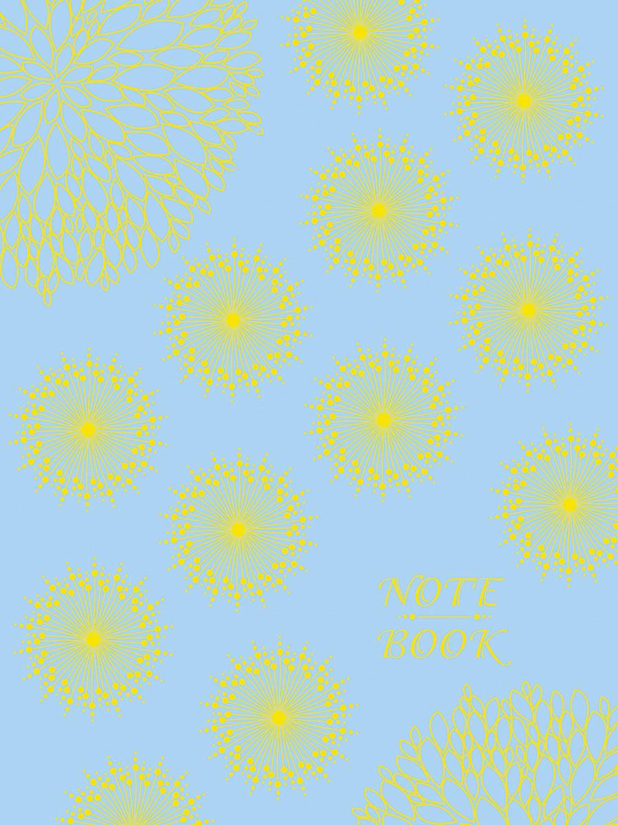 Записная книжка Апплика Орнамент на голубом, форма A6+, 96 листов канц эксмо записная книжка smart book в линейку 120 листов цвет черный формат а5
