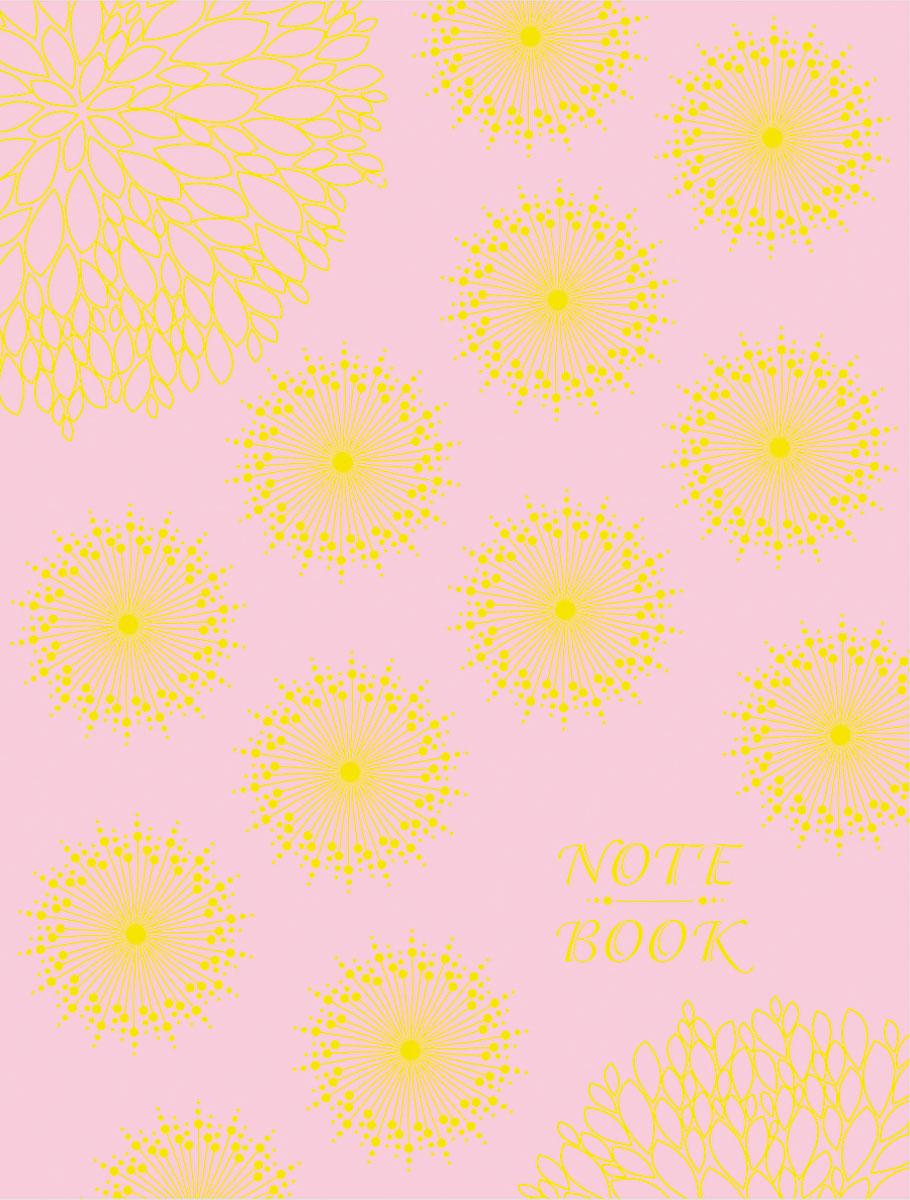 Записная книжка Апплика Орнамент на розовом, форма A6+, 96 листов записная книжка а6 10 5 14 5см 96л клетка kairui яблоки твердая обложка на резинке