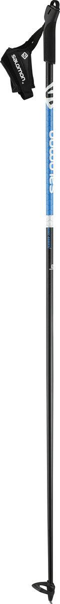 Палки лыжные Salomon Carbon Jr, цвет: черный, длина 120 см крепления для лыж salomon nl 7 b90 black white