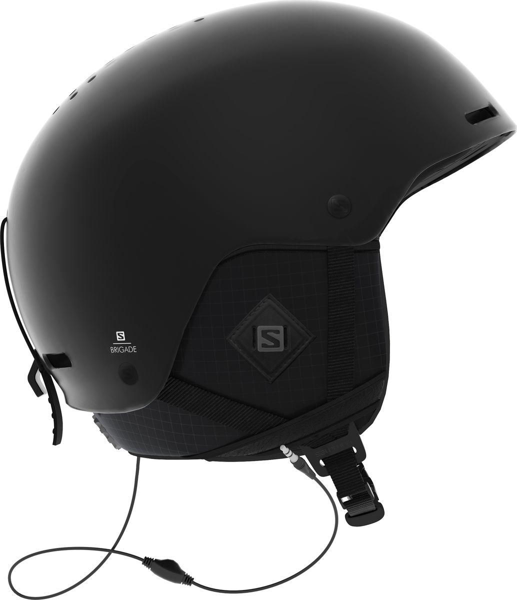 Шлем горнолыжный Salomon Brigade Audio All, цвет: черный. Размер M (56-59)