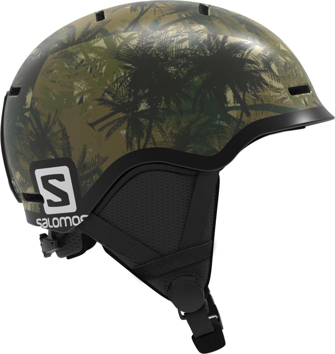 Шлем горнолыжный Salomon Grom, детский, цвет: зеленый. Размер S (49-53)