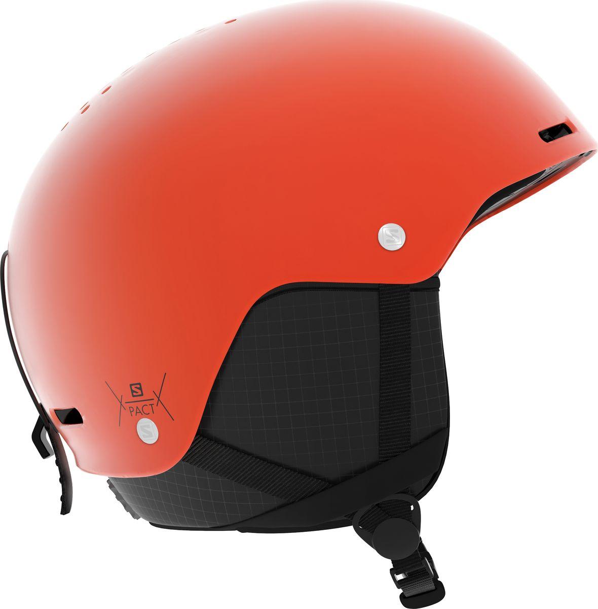 Шлем горнолыжный Salomon Pact, цвет: оранжевый. Размер M (56-59)