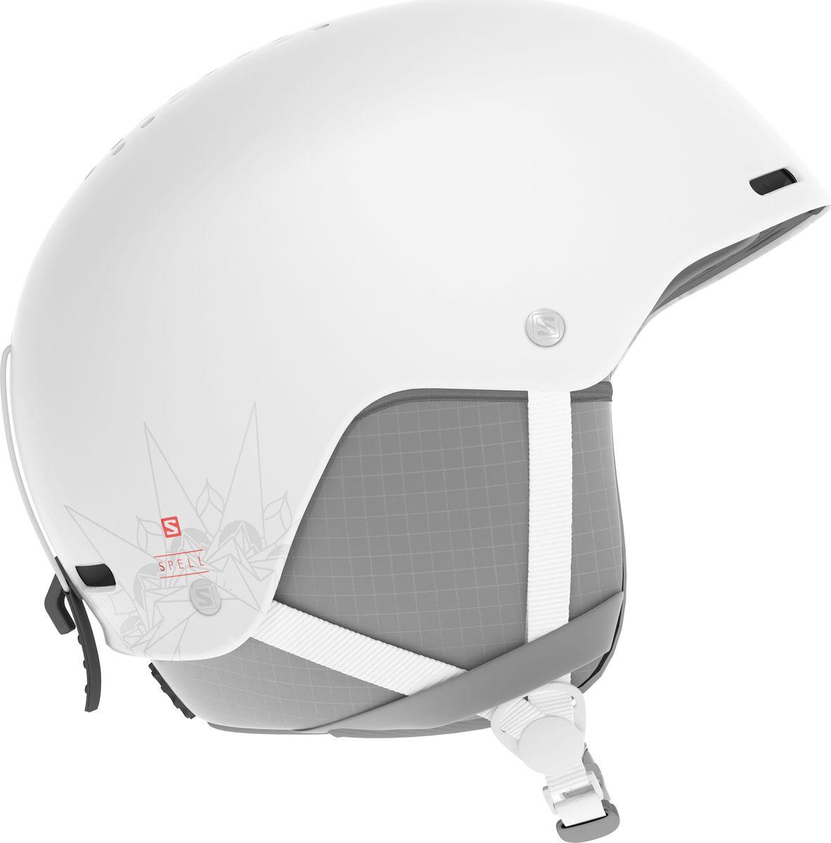 Шлем горнолыжный Salomon Spell, цвет: белый. Размер S (53-56)
