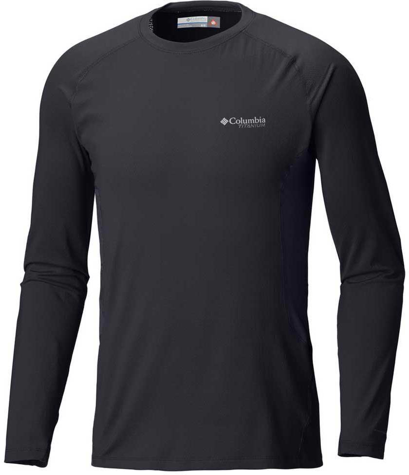 Термобелье лонгслив мужской Columbia Titanium OH3D Knit Crew Top, цвет: черный. 1803181-010. Размер XXL (56/58) чемодан columbia lu9381 010 2399