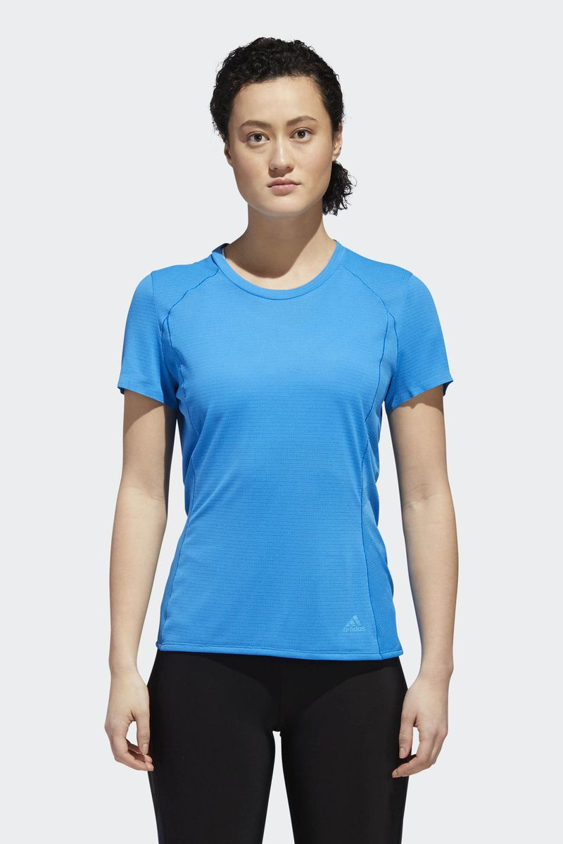 Футболка женская Adidas Fr Sn Ss Tee W, цвет: голубой. CZ5559. Размер XL (52/54) adidas adidas supernova ss run tee