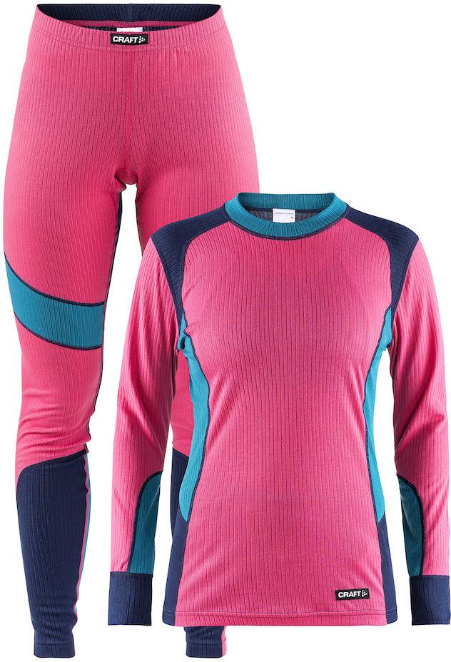 Термобелье комплект женский Craft Baselayer, цвет: розовый. 1905331/720658. Размер L (48) термобелье комплект мужской craft baselayer цвет черный серый 1905332 999975 размер xl 50