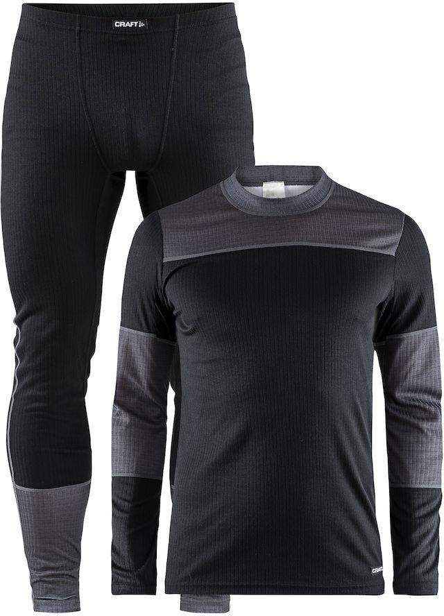 Термобелье комплект мужской Craft Baselayer, цвет: черный, серый. 1905332/999975. Размер XL (50) craft джемпер мужской craft pace jersey