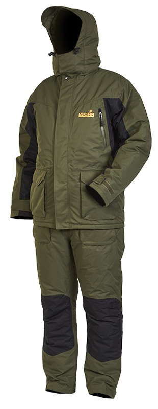 Костюм рыболовный мужской Norfin Element: куртка, брюки, цвет: хаки, черный. 439005. Размер XXL (60/62)