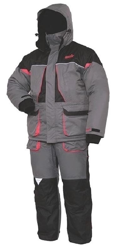Костюм рыболовный мужской Norfin Arctic Red 2: куртка, брюки, цвет: серый, черный, красный. 422103. Размер L (52/54)