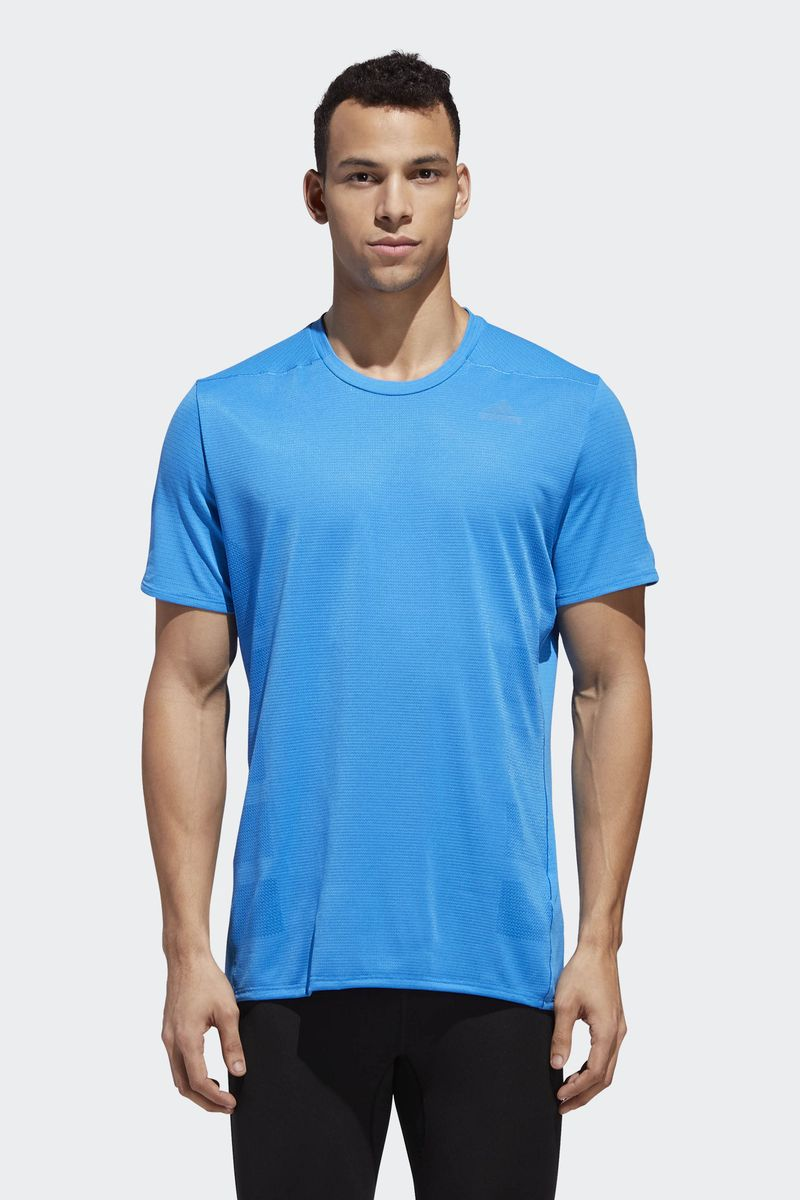 Футболка мужская Adidas Supernova Tee, цвет: голубой. CZ8729. Размер XXL (60/62) пуховик мужской adidas helionic ho jkt цвет темно синий bq1998 размер xxl 60 62