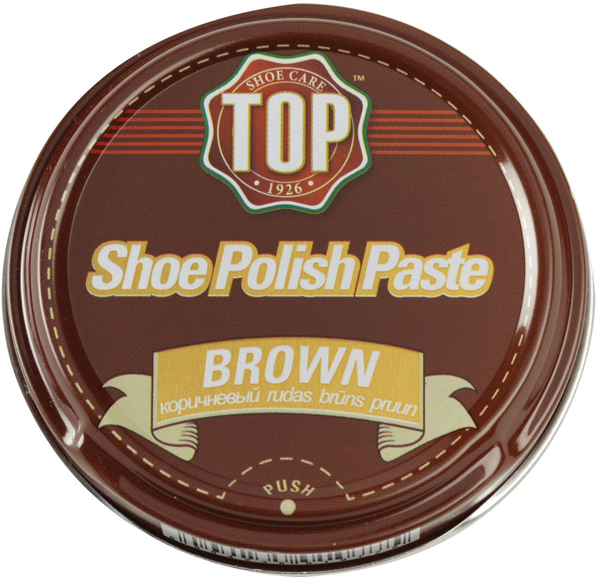 Крем для обуви TOP, цвет: коричневый, 50 мл