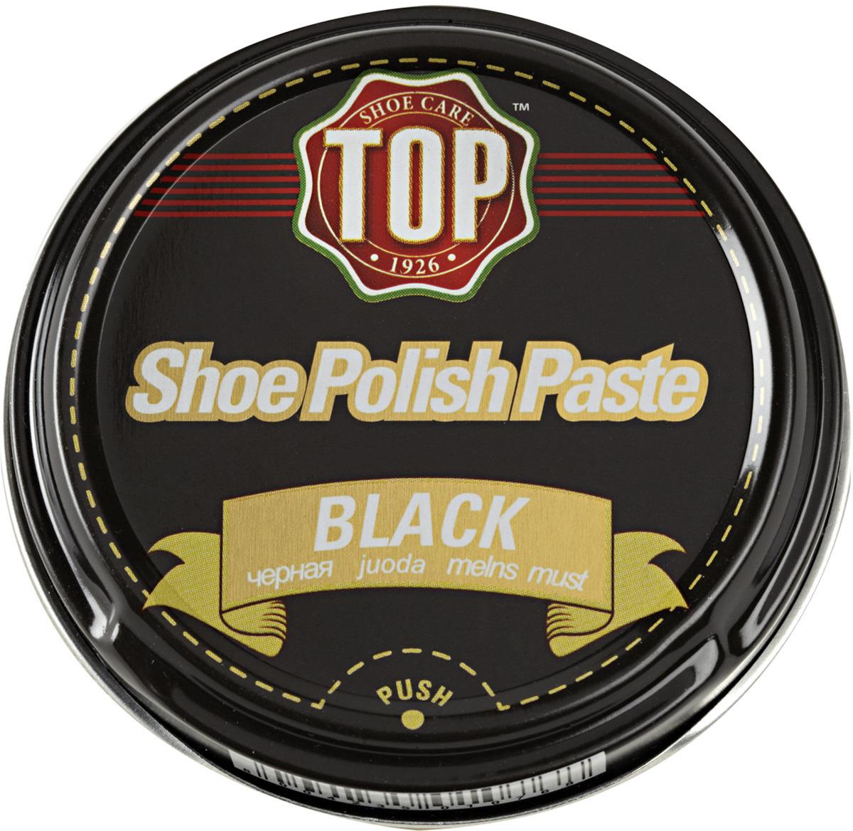 Крем для обуви TOP, цвет: черный, 50 мл