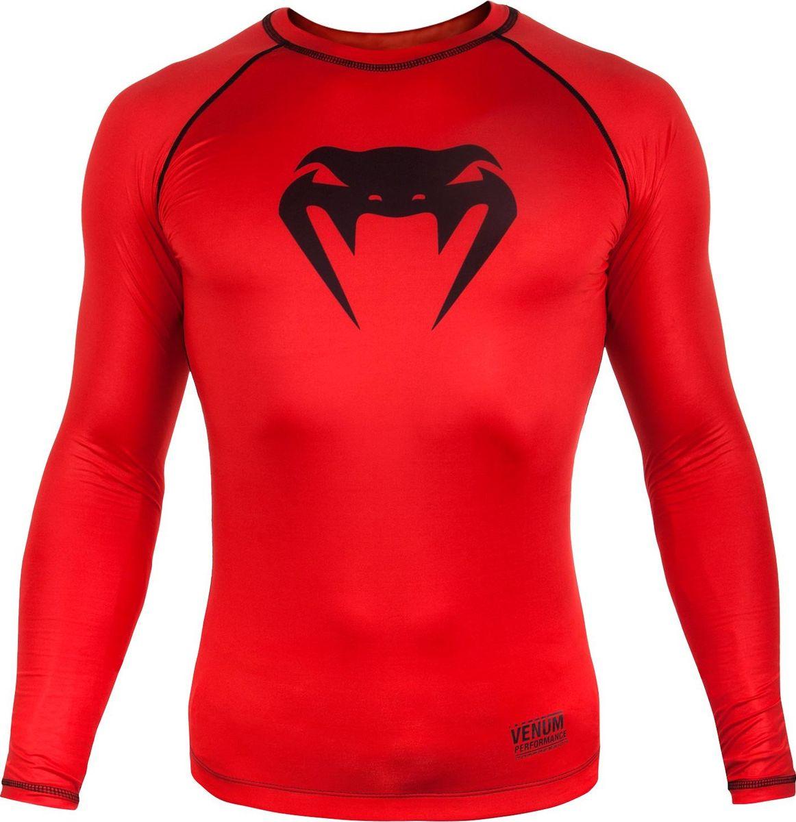 Рашгард мужской Venum Contender 3, цвет: красный. venrash0112. Размер XL (52)