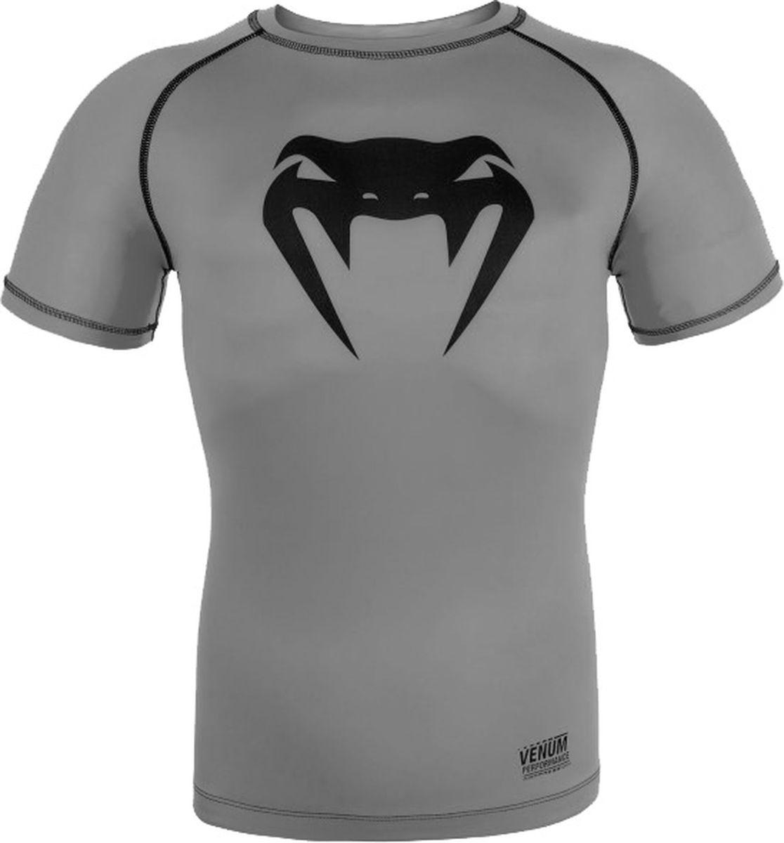 Рашгард мужской Venum Contender 3, цвет: серый. venrash0104. Размер M (48)