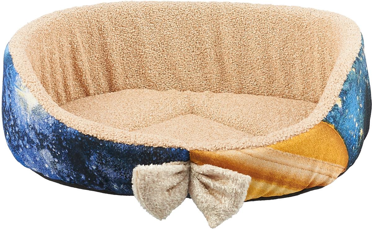 Лежак для собак GLG Малютка. Космос, 37 х 30 х 11 см чехол для сноуборда dakine freestyle цвет черный белый 30 х 16 х 157 см