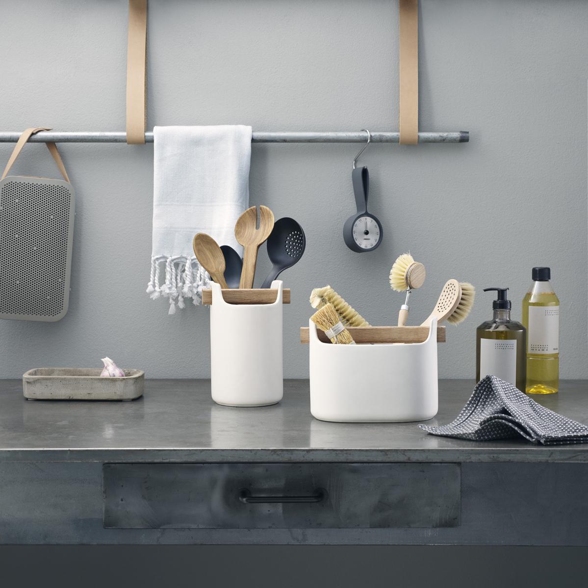 Кухонная подставка Eva Solo Kitchen, цвет: белый, высота 20 см knotted plunge long prom dress with slit