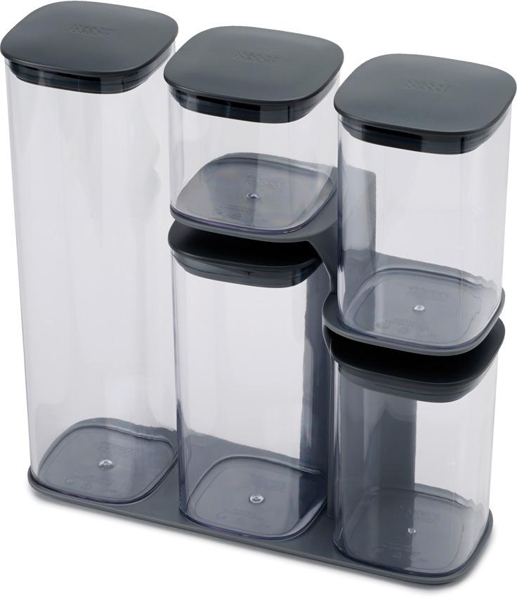 Набор емкостей для хранения Joseph Joseph Podium, цвет: серый, 5 предметов