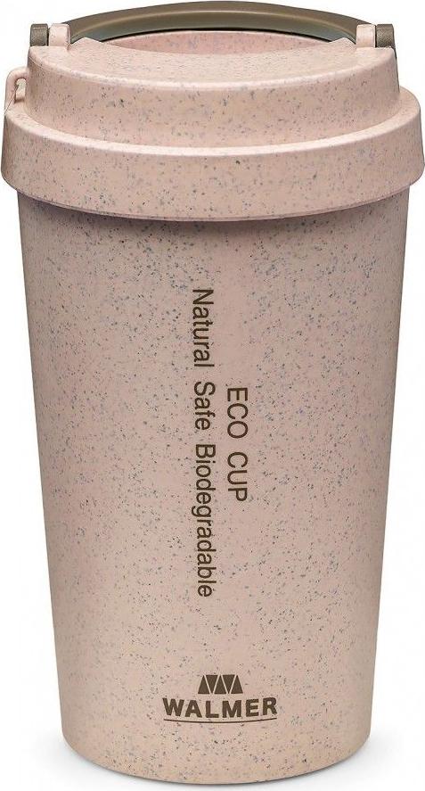 Термокружка Walmer Eco Cup, цвет: розовый, 400 мл