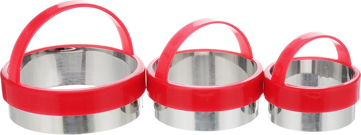 """Набор форм для печенья """"Мультидом"""", цвет: красный, 3 шт"""