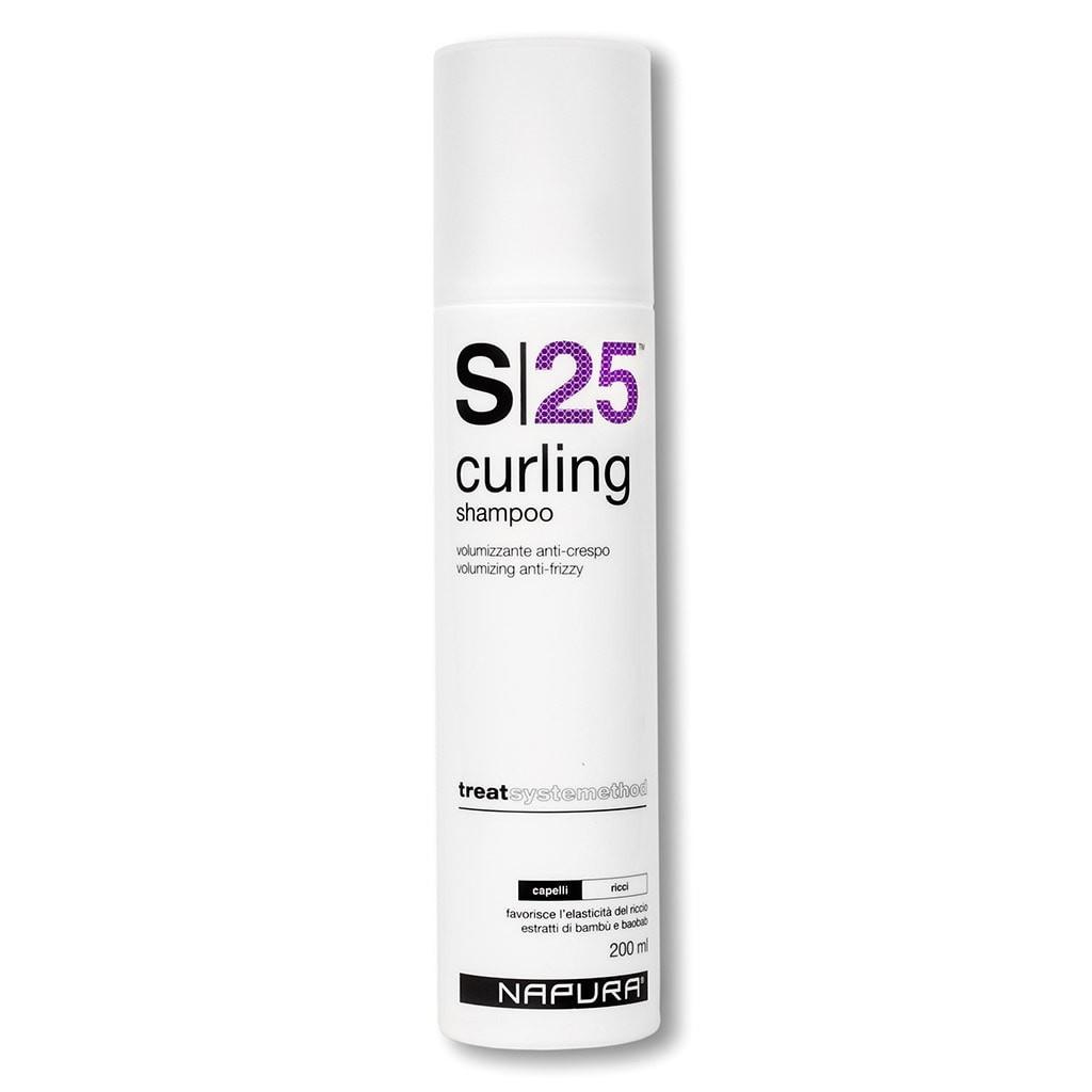 Шампунь для объема, для вьющихся волос, бессульфатный, профессиональный. S25 CURLING (200ml) 177f s25