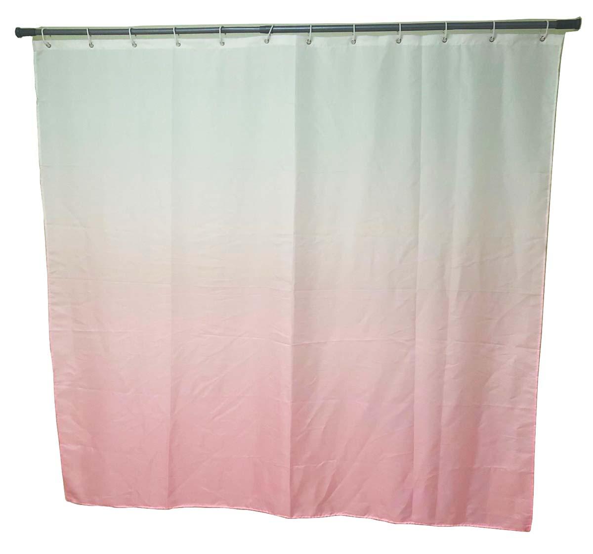 Штора для ванной Swensa Gradient, цвет: розовый, 180 х 180 см
