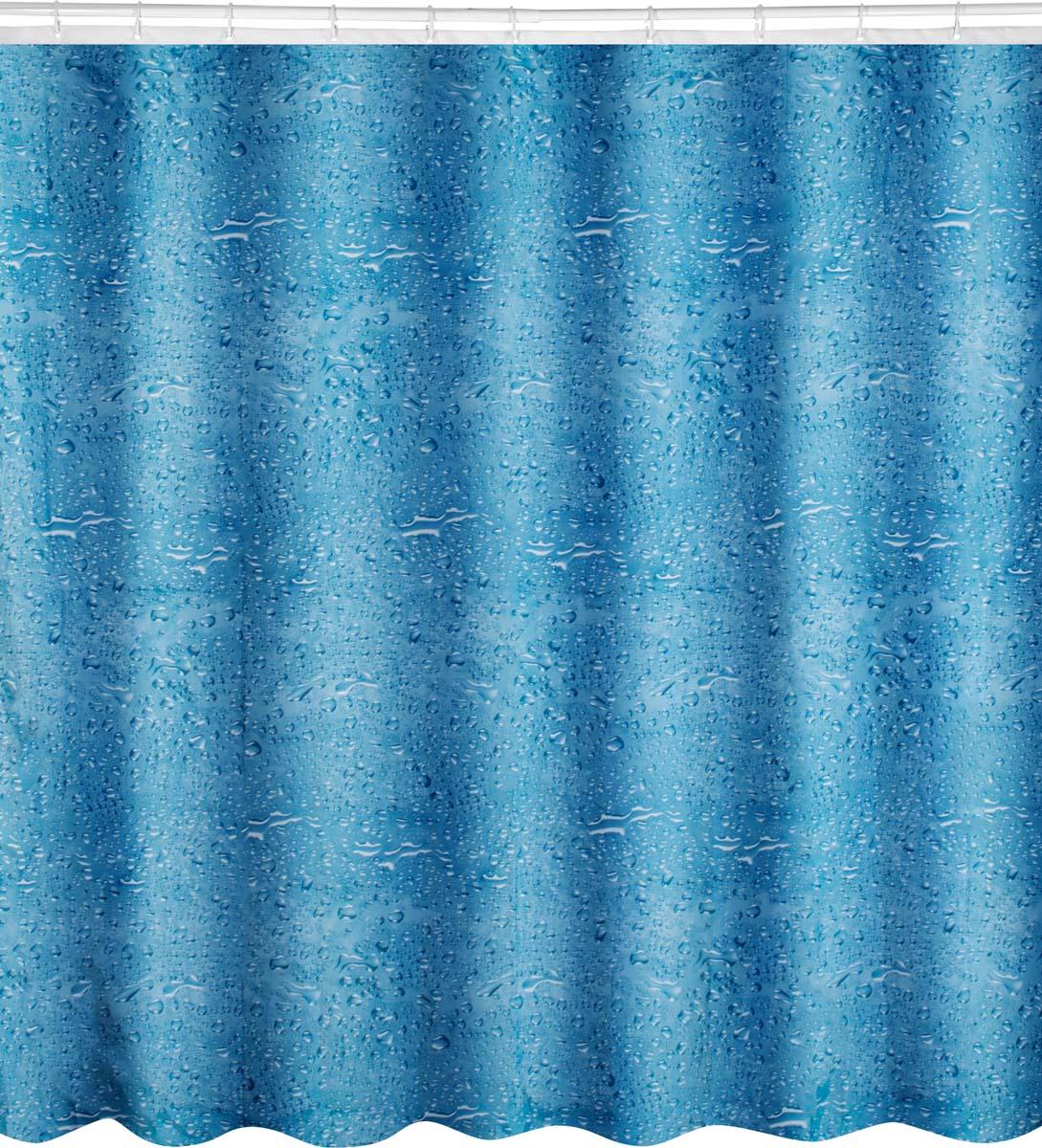 Штора для ванной комнаты одновременно выполняет практическую и декоративную функции. Плотная занавеска из полиэстера препятствует попаданию капель воды и мыльной пены на пол и коврик возле ванны, обеспечивает комфортное ощущение во время принятия душа. Материал обработан гидрофобной пропиткой, легко выдерживает прямой напор водных струй. Изделие образует красивые мягкие складки, зрительно не уменьшает пространство.