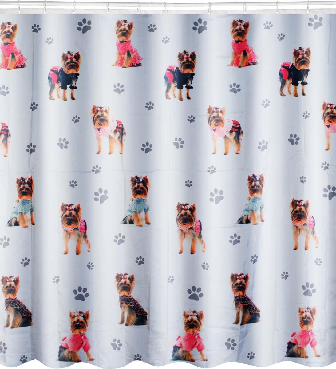 Штора для ванной Swensa York-Dog, 180 х 180 см штора для ванной swensa анкона цвет бежевый 180 х 180 см