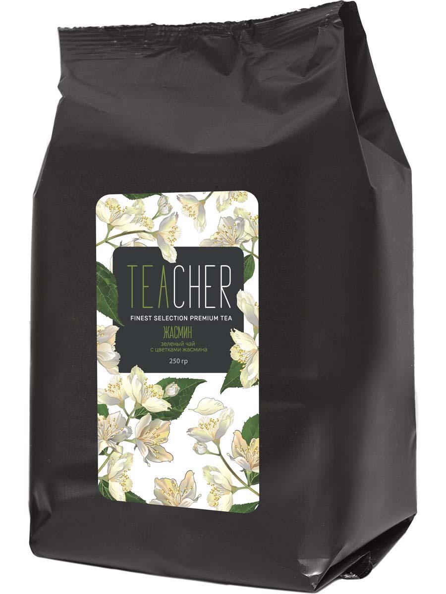 Чай зеленый листовой Teacher Жасмин, 250 г teacher малиновый рассвет чай листовой 500 г
