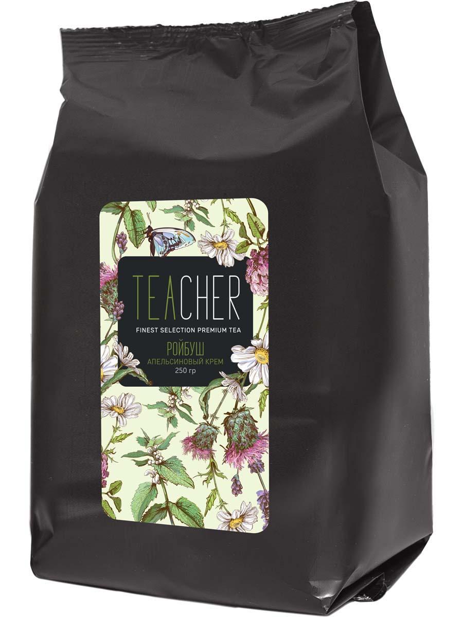 Чай листовой Teacher Ройбуш апельсиновый крем, 250 г teacher карельский чай цветочно травяной купаж 500 г