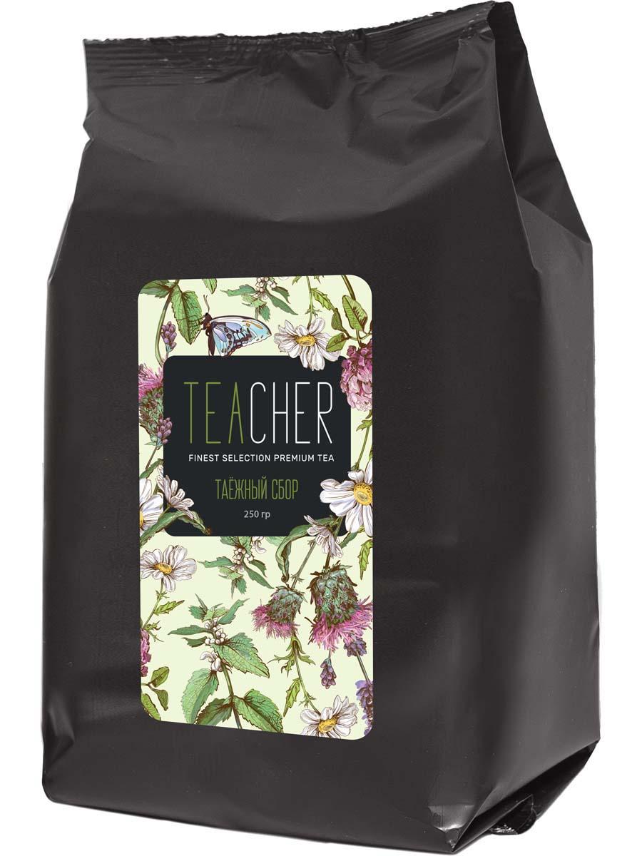 Чай травяной листовой Teacher Таежный сбор, 250 г teacher малиновый рассвет чай листовой 500 г
