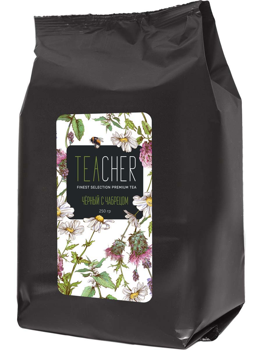 Чай листовой Teacher Черный с чабрецом, 250 г чай черный листовой teacher ассам 250 г