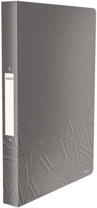 Папка на кольцах Leitz UrbanChic, цвет: темно-серый папка 2 кольца желтая 180 листов 221795