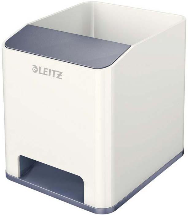 Подставка для канцелярских принадлежностей Leitz WOW, цвет: серый, белый товары для дома