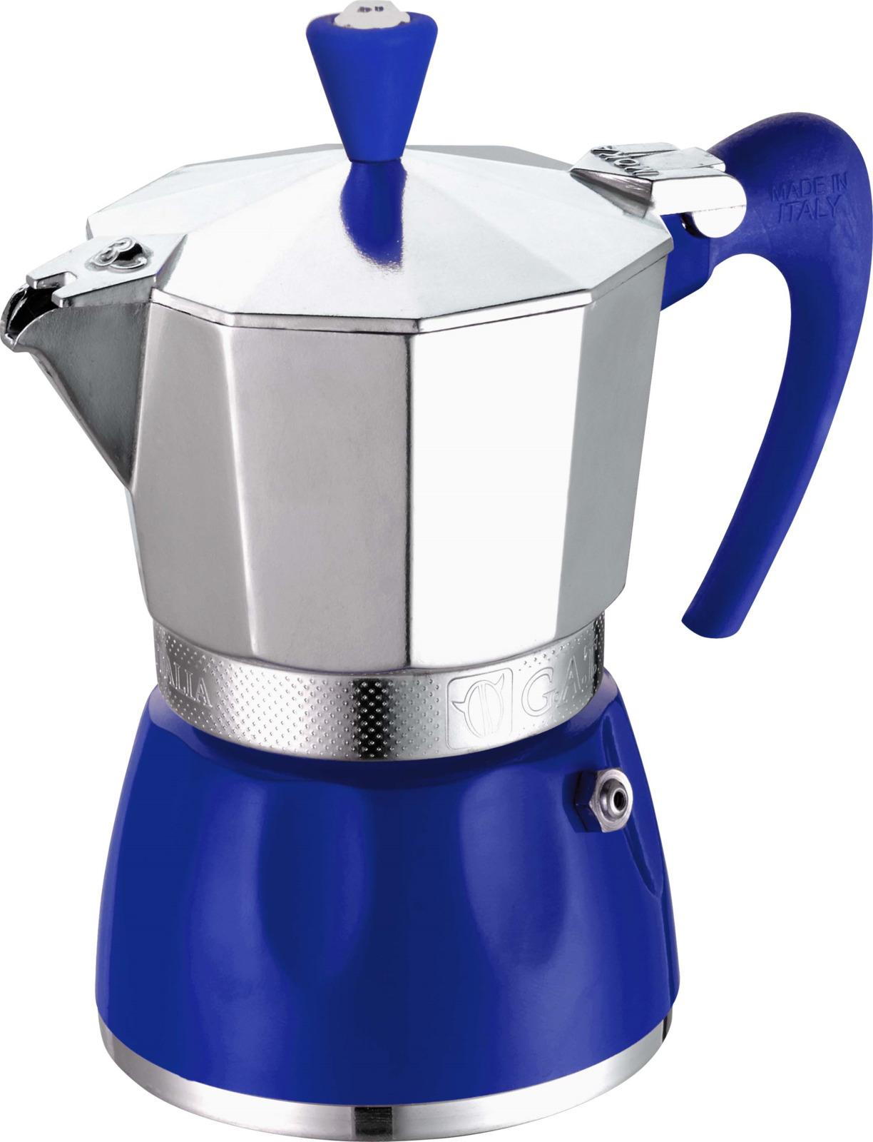 Кофеварка гейзерная G.A.T. Delizia, цвет: синий, на 2 чашки g a t delizia 2 чашки