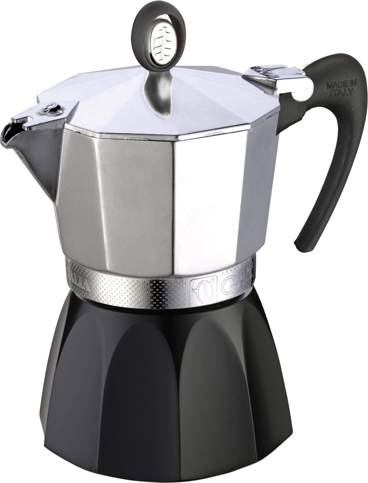 Кофеварка гейзерная G.A.T. 101506 DIVA. Гейзерная кофеварка - это отличная возможность побаловать себя чашечкой великолепного ароматного кофе. Кофеварка рассчитана на 6 чашек. За считанные минуты прибор приготовит ваш любимый напиток и моментально наполнит кухню изумительным ароматом. Прочная алюминиевая основа придает кофеварке легкость и надежность, а стильный дизайн добавит кухонному интерьеру элегантности и особого шарма. Основные отличительные особенности кофеварок Diva: удобный носик для наливания кофе, стильный ремень, соединяющий верхнюю и нижнюю части кофеварки, специальное внутреннее покрытие, обеспечивающее легкую очистку и обслуживание, ручка из термостойкого пластика, кофеварка подходит для использования на всех типах плит, в том числе и индукционных.