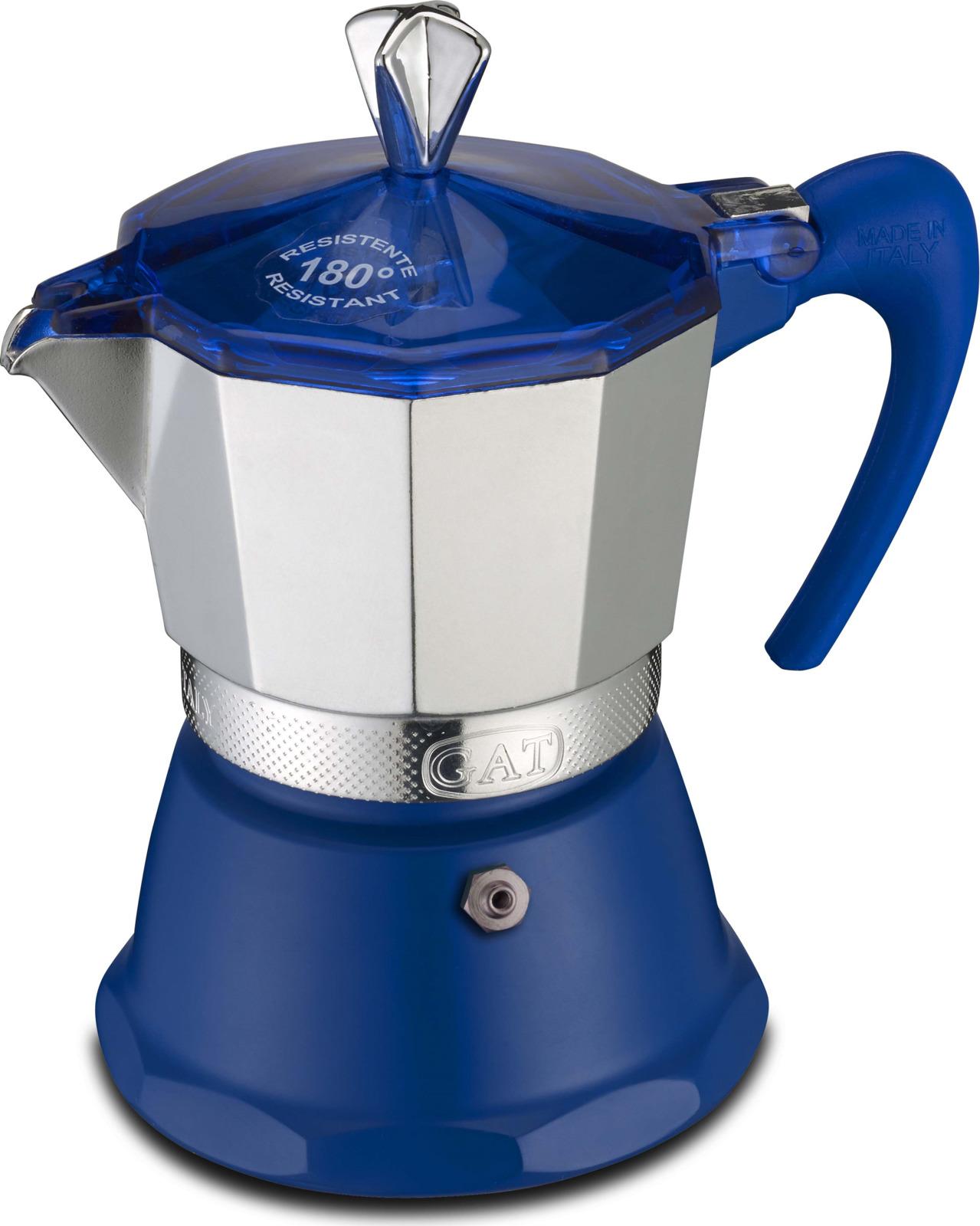 Кофеварка гейзерная G.A.T. 106003 FANTASIA. Гейзерная кофеварка - это отличная возможность побаловать себя чашечкой великолепного ароматного кофе. Кофеварка рассчитана на 3 чашки. За считанные минуты прибор приготовит ваш любимый напиток и моментально наполнит кухню изумительным ароматом. Прочная алюминиевая основа придает кофеварке легкость и надежность, а стильный дизайн добавит кухонному интерьеру элегантности и особого шарма. Основные отличительные особенности кофеварок Fantasia: удобный носик для наливания кофе, стильный ремень, соединяющий верхнюю и нижнюю части кофеварки, специальное внутреннее покрытие, обеспечивающее легкую очистку и обслуживание, ручка из термостойкого пластика, полупрозрачная крышка, позволяющая наблюдать за процессом приготовления, кофеварка подходит для использования на всех типах плит, в том числе и индукционных.