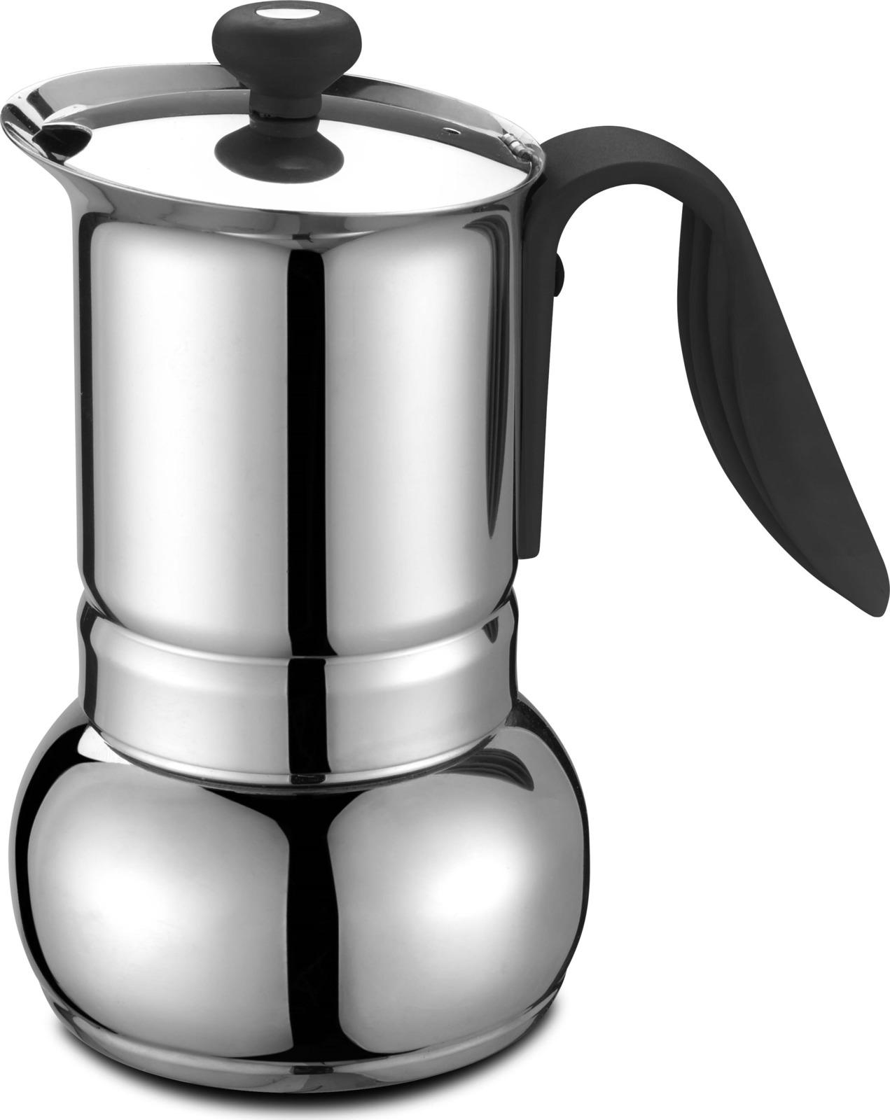 Кофеварка гейзерная G.A.T. 01-001-10 OPERA. Гейзерная кофеварка - это отличная возможность побаловать себя чашечкой великолепного ароматного кофе. Кофеварка рассчитана на 10 чашек. За считанные минуты прибор приготовит ваш любимый напиток и моментально наполнит кухню изумительным ароматом. Прочная основа придает кофеварке легкость и надежность, а стильный дизайн добавит кухонному интерьеру элегантности и особого шарма. Основные отличительные особенности кофеварок Opera: удобный носик для наливания кофе; специальное внутреннее покрытие, обеспечивающее легкую очистку и обслуживание; ручка из термостойкого пластика; кофеварка подходит для использования на всех типах плит, в том числе и индукционных.